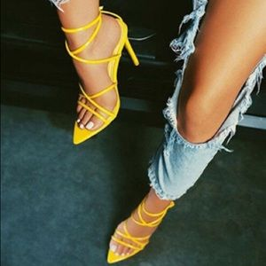 Women's Strappy Stilettos - Pointed Toes /